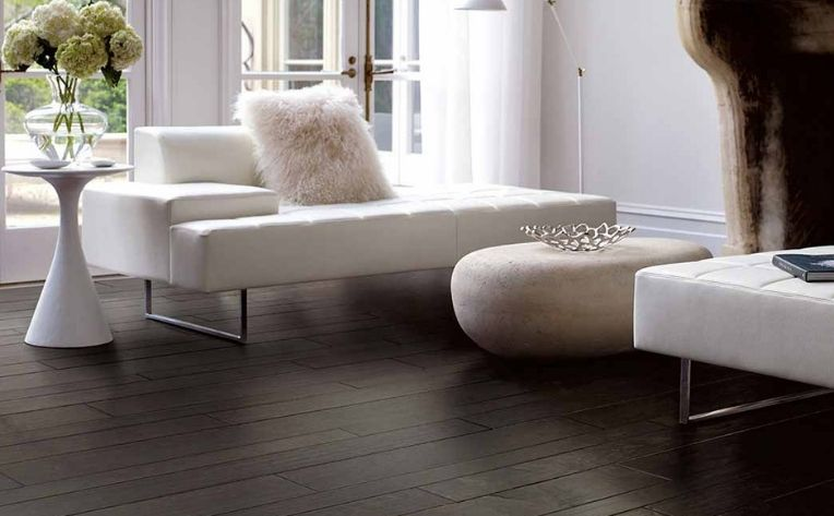 Dark Hardwood Flooring Living Room