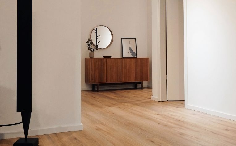 Light Luxury Vinyl Flooring Home Hallway