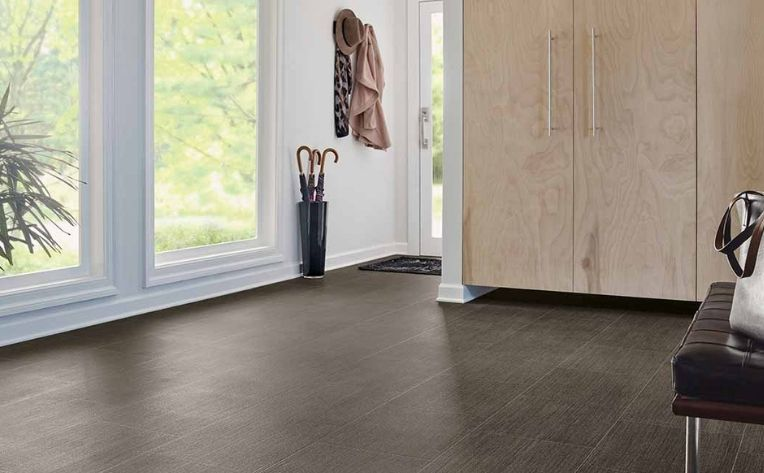 dark flooring mudroom